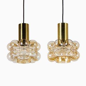 Bubble Glas Deckenlampen von Helena Tynell & Heinrich Gantenbrink für Limburg, 1960er, 2er Set
