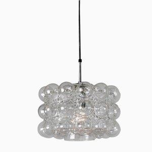 Lámpara colgante con burbuja de vidrio de Helena Tynell & Heinrich Gantenbrink para Glashütte Limburg, años 60