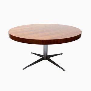 Mid-Century Walnut Veneer Round Coffee Table