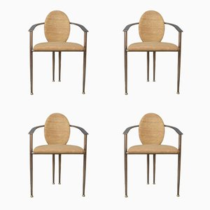 Armchairs from Belgo Chrom, 1980s, Set of 4