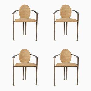 Armlehnstühle von Belgo Chrom, 1980er, 4er Set