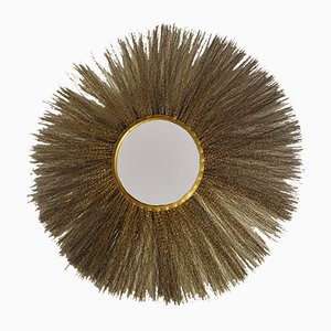 Espejo italiano de latón dorado, años 60