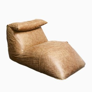 Le Bambole Leder Chaise Lounge von Mario Bellini für B&B Italia, 1970er