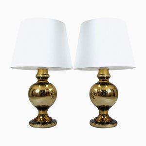 Lámparas de mesa de Uno & Östen Kristiansson para Luxus, años 70. Juego de 2