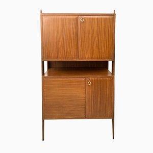 Mueble italiano de haya, caoba y madera de arce, años 50