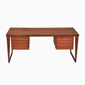 Model 70 Teak Desk by Kai Kristiansen for Feldballes Møbelfabrik, 1960s