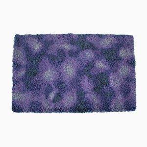Tappeto Mid-Century di lana viola, anni '60