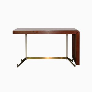 Italian Teak Drop-Leaf Desk, 1960s