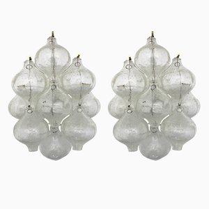 Vintage Glas Tulpen Wandlampen von J. T. Kalmar, 1960er, 2er Set