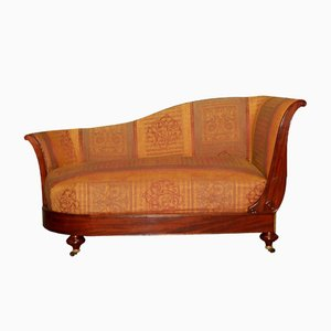 Antike Mahagoni Chaise Lounge von Dubois à Paris