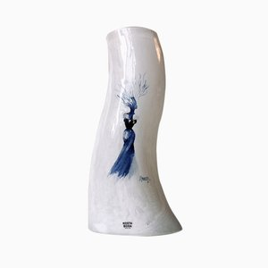 Cat Walk Vase by Kjell Engman for Kosta Boda, 1980s