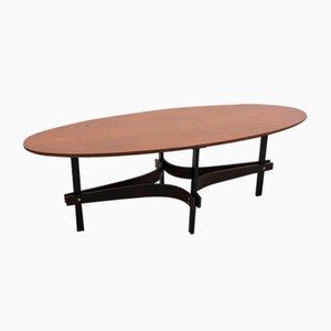 Table Basse Ovale Mid-Century par Guglielmo Ulrich, Italie