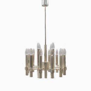Lámpara de araña con 16 lámparas de Gaetano Sciolari, años 60
