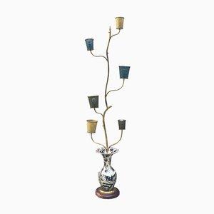 Lámpara de pie italiana Mid-Century, años 50