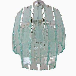 Italienischer Glas Kronleuchter, 1965
