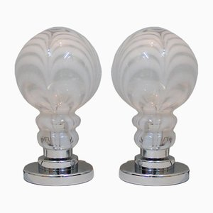 Vintage Table Lamps in Murano Glass, Set of 2
