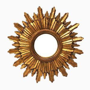 Gewölbter Vintage Spiegel in Sonnenform