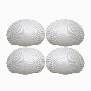 Mid-Century Shell Wall Sconces by André Cazenave for Atelier A, 1968