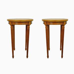 Tavolini in ciliegio, Francia, anni '70, set di 2