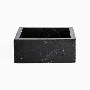 Kleine quadratische Schachtel aus schwarzem Marquina-Marmor von FiammettaV Home Collection