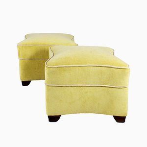 Art Deco French Ottomans by Jules Leleu, 1930s, Set of 2