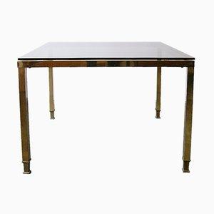 Table Basse Mid-Century en Laiton & Verre