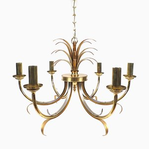 Belgian Brass Chandelier from Boulanger, 1970s