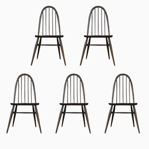 English Quaker Dining Chairs by Lucian Ercolani for Ercol, 1960s, Set of 5