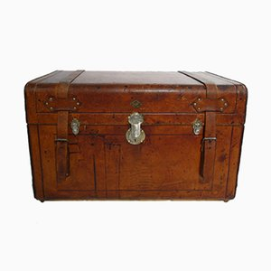 Antique Russian Leather Trunk, 1905