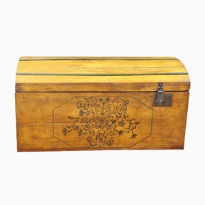 Antique Decorative Wooden Trunk