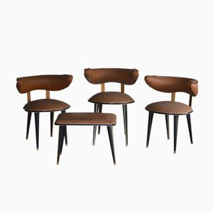 Side Chairs & Stool by Umberto Mascagni, 1960s