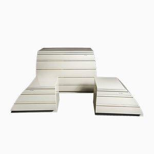 Commode & 2 Tables de Chevet par Pierre Cardin, 1970s