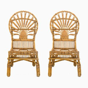 Bamboo Chairs, 1960s, Set of 2