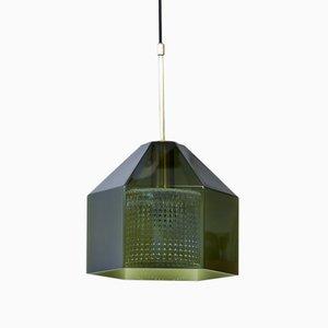Lampe à Suspension en Forme d'Hexagone par Carl Fagerlund pour Orrefors, 1960s