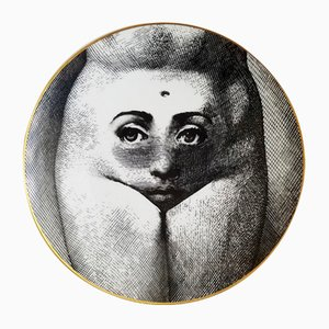 Temi E Variazioni Motiv 19 Porzellanteller von Fornasetti für Rosenthal, 1980er