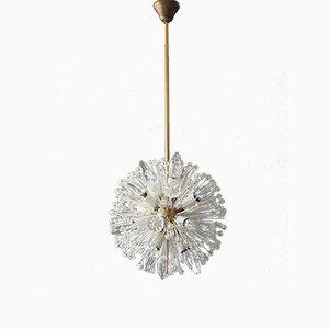 Lámpara de techo Mid-Century moderna con bola de latón de Emil Stejnar para Rupert Nikoll