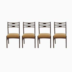 Modell 101 Teak Esszimmerstühle von Johannes Andersen für Vamo Sonderborg, 1950er, 4er Set