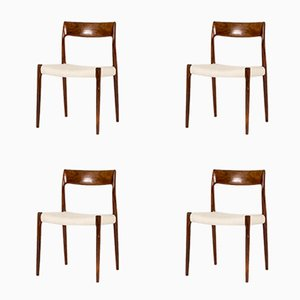 Rosewood Dining Chairs by Niels O. Møller for J.L. Møllers, 1950s, Set of 4