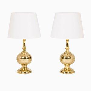 Lámparas de mesa suecas de latón de Atena Växjö, años 60. Juego de 2