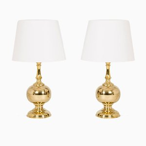 Swedish Brass Table Lamps from Atena Växjö, 1960s, Set of 2