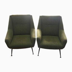 Mid-Century Modern Armchairs, Italy, Set of 2
