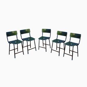 Chaises Industrielles, 1960s, Set de 5