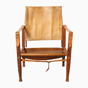 Vintage Safari Chair by Kaare Klint for Rad. Rasmussen, 1940s