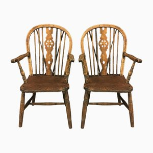 Antique Windsor Chairs, Set of 2