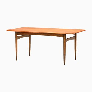 Table Basse Mid-Century en Teck & Noyer, Danemark, 1960s