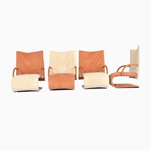 Vintage Zen Armchairs by Claude Brisson for Ligne Roset, Set of 4