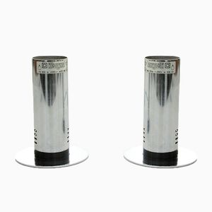 Italian Chromed Table Lamps from Targetti, 1970s, Set of 2