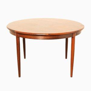 Tavolo da pranzo modello 15 in palissandro di N.O. Møller per J.L. Møller, anni '60