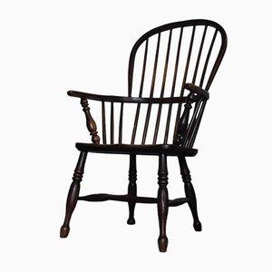 Sedia Windsor georgiana in olmo con schienale curvo, inizio XIX secolo