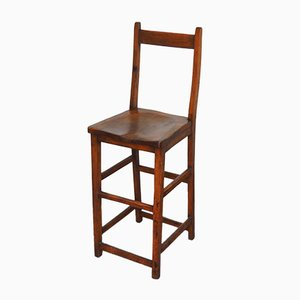 High Chair in Mahagoni aus 19. Jh.